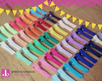 40 - YOU PICK - Partially Lined Alligator Clips, wholesale clips, Single Prong Clips, Hair Clips