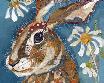 Hare & Daises - Mounted Limited Edition Giclee Print