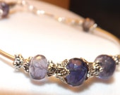 Gorgeous Iolite Gemstone Bracelet in Silver