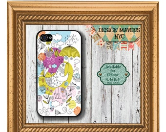 Bird iPhone Case, April Showers iPhone Case, Spring iPhone Case, iPhone 4, 4s, iPhone 5, 5s, 5c, iPhone 6, 6s, 6 Plus, Phone Case