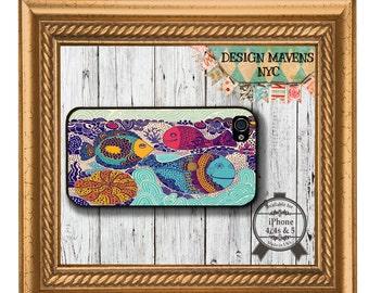 Deep Blue Sea Fish iPhone Case, Ocean iPhone Case, Nautical iPhone Case, iPhone 5, 5s, 5c, 4, 4s, iPhone 6, 6s, 6 Plus, SE, iPhone 7, 7 Plus