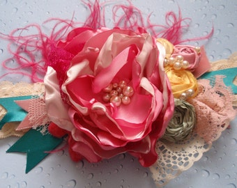 Shabby Chic Headband, Persnickety, Matilda Jane Headband, Baby Headband, Girls Hair Accessory, Kids Hair Accessory, Lace Headband,