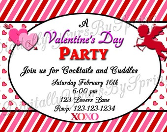 Printable Valentines Party Invite 1
