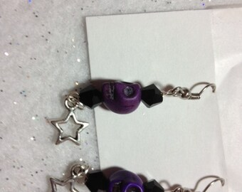 Sugar Skull and Star earrings