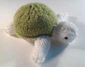 Darling Little Hand Knitted Plush Turtle