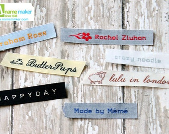 Iron On Woven Clothing Labels, Custom Labels, Knitting Labels, Sewing Labels, Crochet Labels, Cotton Labels, Fabric Labels, Personalized