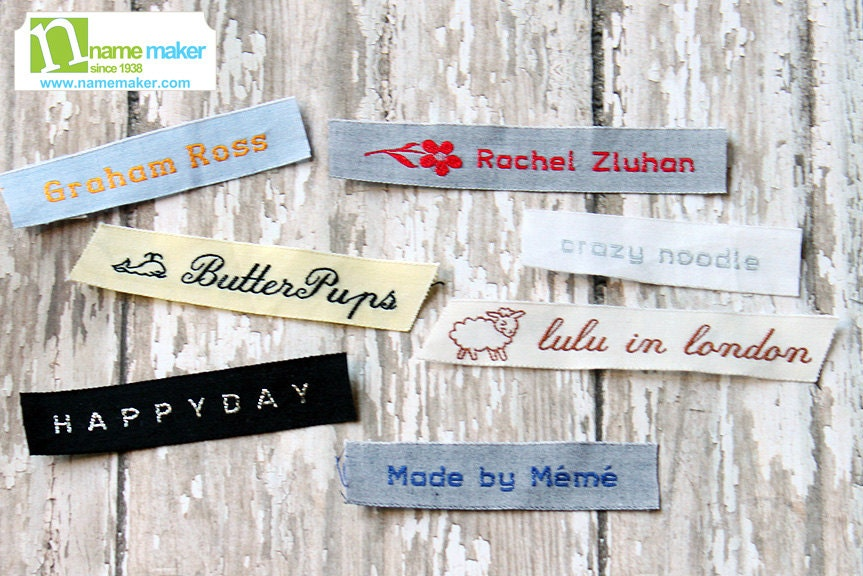 Sew On Custom Woven Clothing Labels 100% Cotton