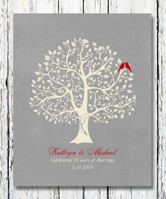 Personalized 25th Silver Wedding Anniversary Gift Special