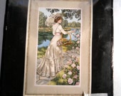 Gorgeous cross stitch kit - A Summer Stroll - 1900 woman - unopened