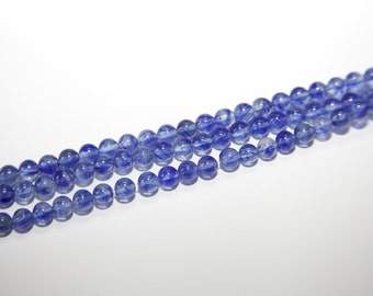 60 Piece synth. Gemstone bead in blue HE171-6