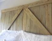 Barn door King  headboard / Rustic barn gate