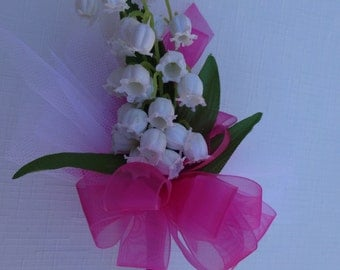 Corsage in Lily of the Valley