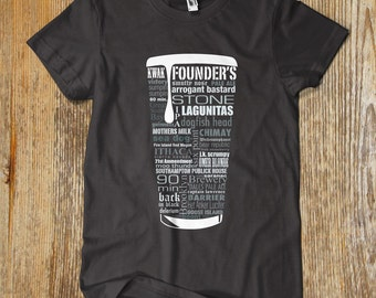 "GRAY CRAFT BEER Typography"" t shirt. One of a kind"