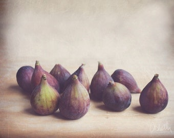 8x10 Print, Fine Art Photography, Food photography, Figs, Still Life Photography, Soft Purple, Earthy Tones, Kitchen decor, Vintage
