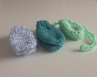 Baby Mittens, set of 3 (Newborn size)