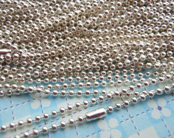 SALE--20 pcs Silver plated Ball Chain Necklaces - 27inch, 1.5mm