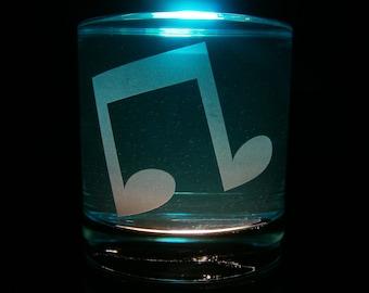 Vinyl Scratch Cutie Mark - Rocks Glass
