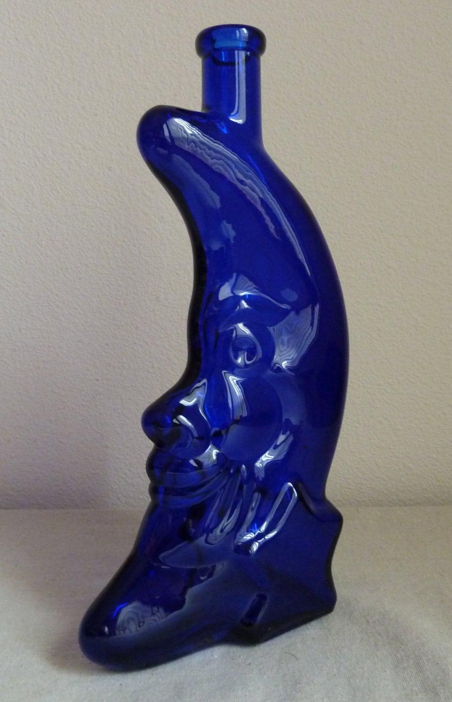 Blue Moon Glass Wine Bottle Coblat Blue Moon Cobalt Blue Glass