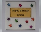 Star Collection Personalised Greeting Card Hand Made