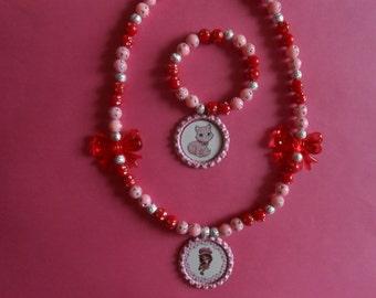 Strawberry shortcake party favor stretch necklaces by for Strawberry shortcake necklace jewelry