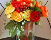 Orange and Yellow Ranunculus Floral Arrangement