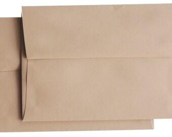 25  A6 A-6 Premium Chestnut Creme Tan Brown  Square-Flap Envelope - 4x6