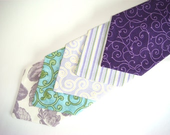 Necktie - (Mens Size) Spring Lavender and Green Collection - Perfect for Weddings, Family Photos