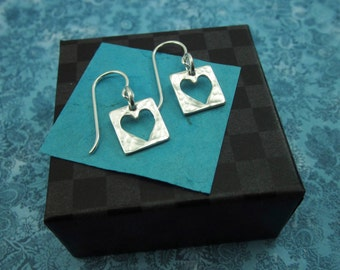 Live With An Open Heart Sterling Earrings