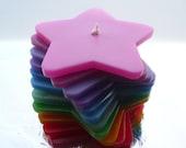 Handmade, Rainbow Stacking Candle.