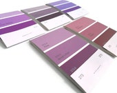 CLEARANCE Mini Paint Chip Notebooks Shades of Purple Matchbook Notebook Upcycled