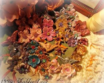 Handmade Springtime Polymer Clay Flower Beads