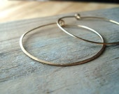 Large Gold Hoops, Metalworked, 14K Gold Filled, Simple, Modern, Gifts Under 50, Everyday Hoops, Minimalist, Gifts For Her