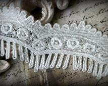Ivory Venice Lace for Bridal, Sashes, Gowns, Altered Art, Couture Design, Millinery, Crafting LA-014