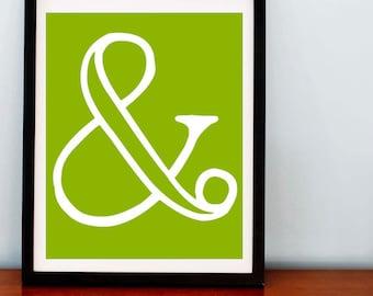 Graphic Ampersand Print - 8x10