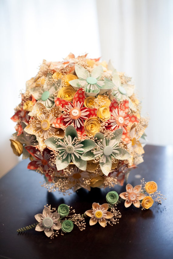 paper flower bouquets for weddings items similar to wedding bouquet paper flower wedding 6365