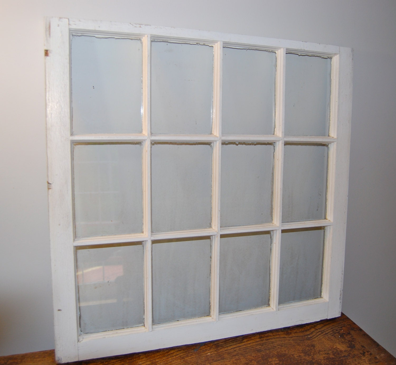 antique 12 pane window frame sash
