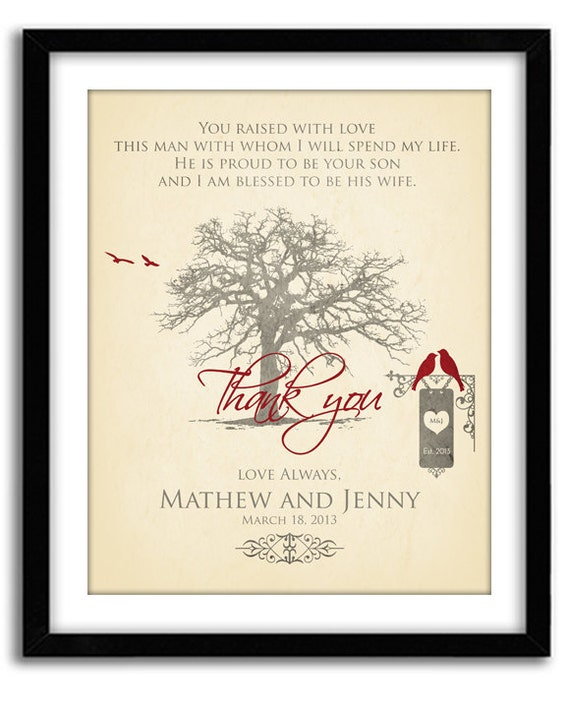 Wedding Gift For Groom Dad : Wedding Gift for Parents Of Groom, Thank You gift for Parents, In laws ...