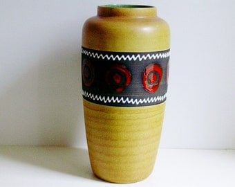 Large Vintage Bay keramik ceramic floor vase West Germany WGP