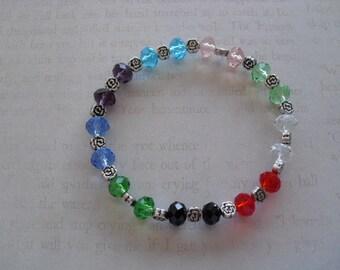 beautiful multi-color quartz bracelet