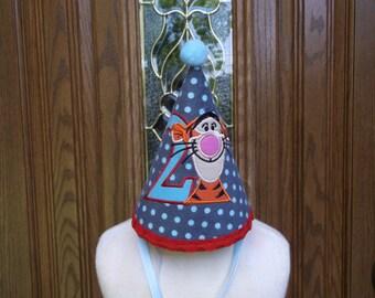 Boys 1st Birthday Party Hat - Tigger Birthday Hat - Birthday  - Free Personalization