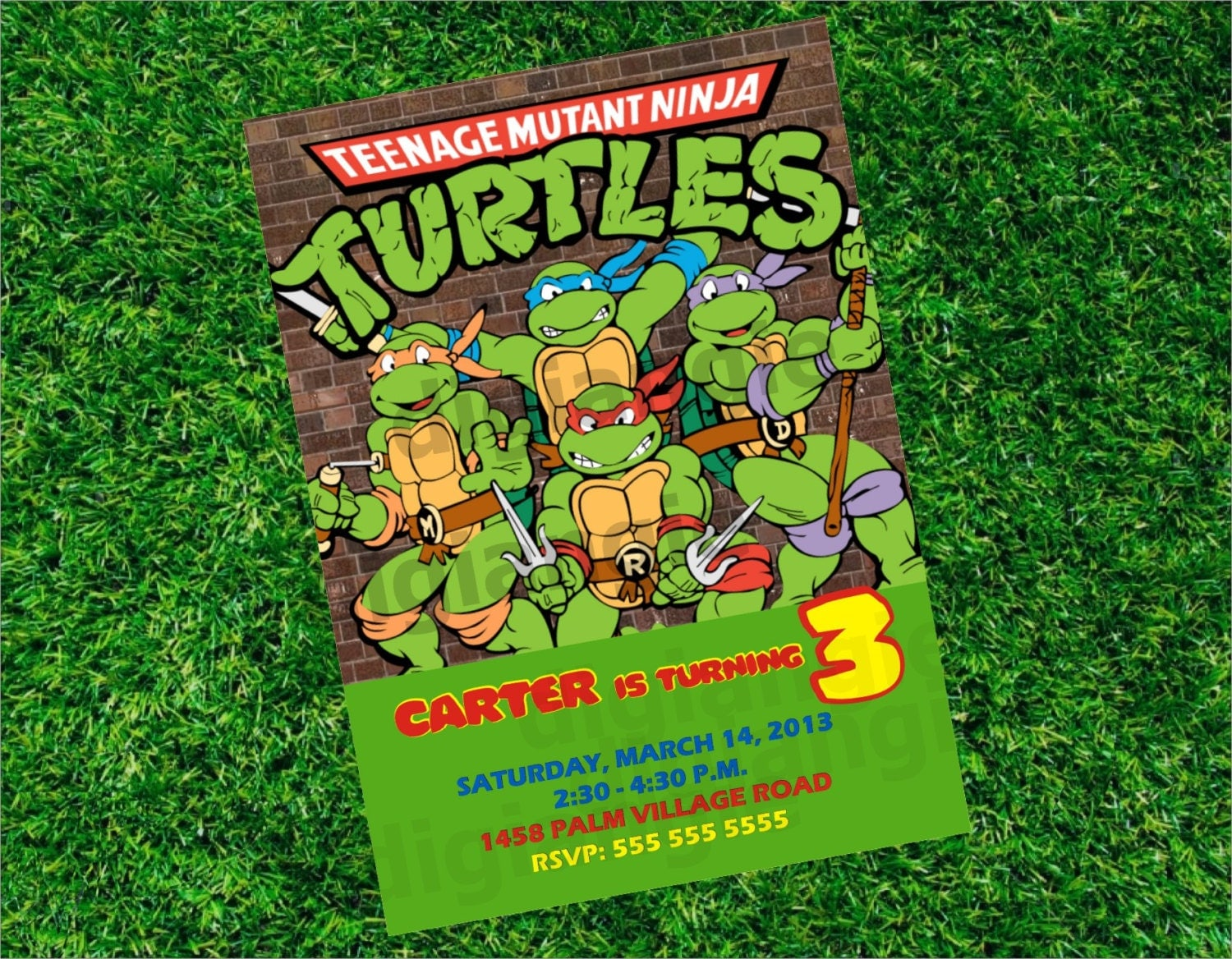 Teenage mutant ninja turtles invitations template - photo#7