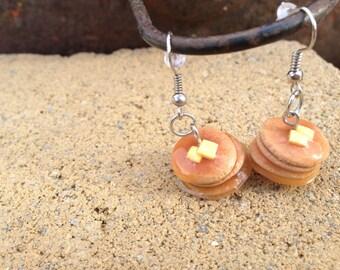 Pancake Polymer Clay Earrings