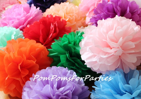 18 High Quality Mixed Size Tissue Paper Pom Poms - Mother's day - Easter - Baby shower - Bridal - Birthday party decorations