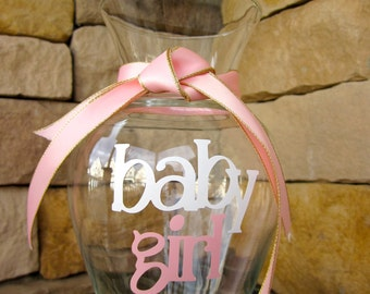 Glass Vase Announcing Baby's Birth