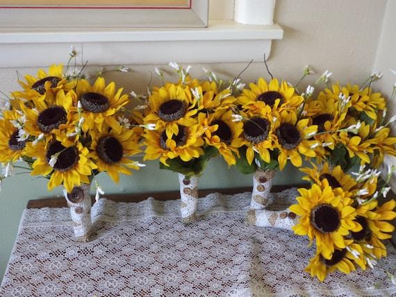 country sunflower tables sunflower silk bridal bouquet sunflower wedding fall