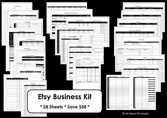 Etsy business planner printables work at home mom online for Online work planner