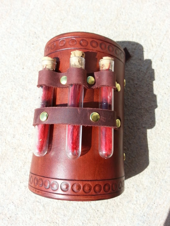 Items Similar To Hand Tooled Leather Alchemy Steampunk