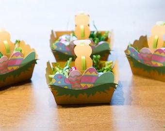 Easter Favor Baskets/Treat baskets/ Treat boxes Set of 4