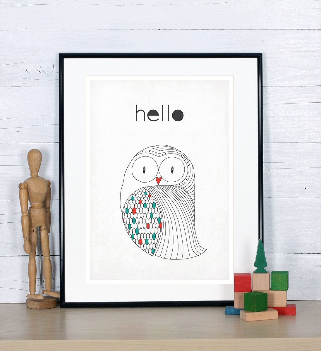 housewarming owl print scandinavian poster minimalist design. Black Bedroom Furniture Sets. Home Design Ideas