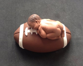 Fondant 3D football sports cake topper, baby shower, birthday